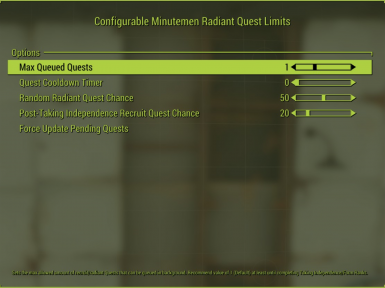 Configurable Minutemen Radiant Quest Limits And Fixes (MCM)