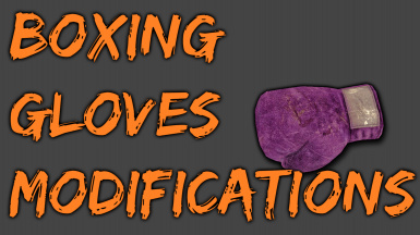Boxing Glove Modifications