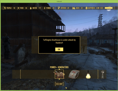 Settlement attacked