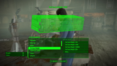 Power Armor Carry Weight