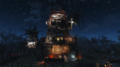 a beacon of light in the wasteland that can be seen from far away - unfortunately also by raiders