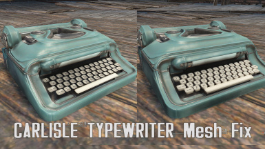 Carlisle Typewriter mesh fix
