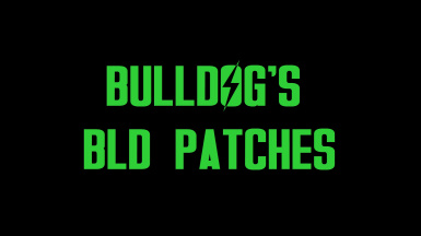 Bulldog3321's BLD Weapon Patches