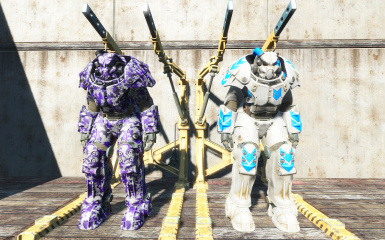 Purple Digital Camo and White And Blue - Courtesy of fudsey and Cactusneedle18 Respectively