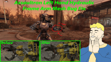 Assaultron Left Hand Hydraulic Frame Arm Mesh Bug Fix