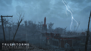 Fork lightning over Red Rocket