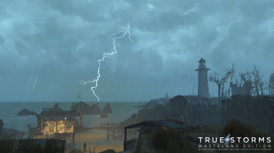 Coastal Storm with Fork Lightning
