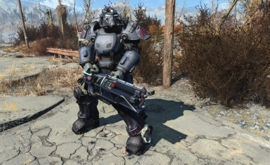 Ultracite Power Armor With Matching Gatling Laser