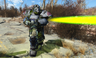 Ultracite Power Armor With Matching Rifle