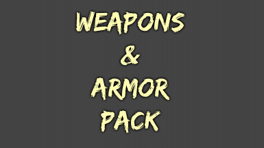 Weapons and Armor Pack - Mega Merge