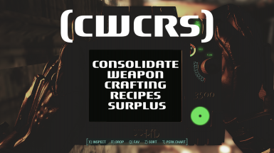 Consolidate Weapon Crafting Recipes Surplus (CWCRS)