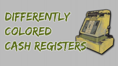 Differently Colored Cash Registers