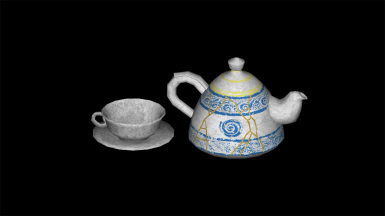 Ceramic teaset textures in optional