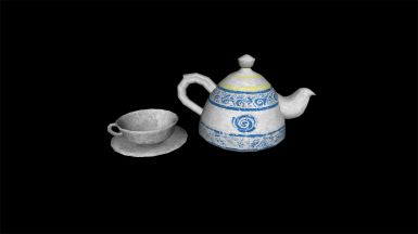 Ceramic (No Gold) teaset textures in optional