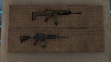 Comparison with Nadie's SREP, so it's a SCAR-L since both of them are stuck by STANAG mag.