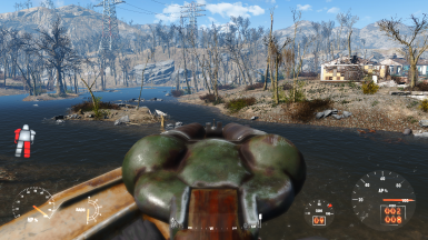 Free FOV Power Armor enabled, Iron Sights