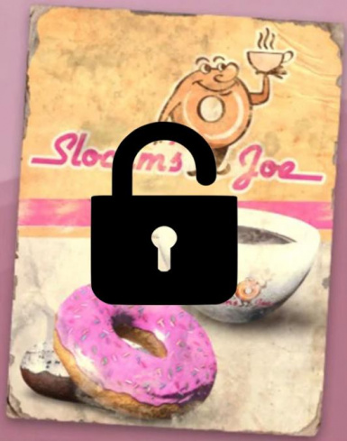 Coffee and Donuts Settlement Objects Unlocked
