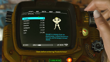 Realistic PowerArmor clothing Perks and Fusion Core Handling