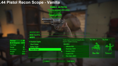 44 Pistol Recon Scope Vanilla