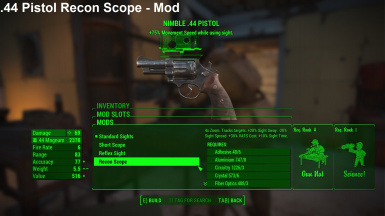 44 Pistol Recon Scope Mod