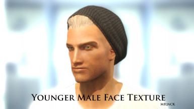 Younger Male Face Texture