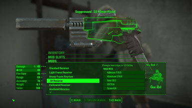 Pistol with .50 Receiver