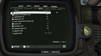 Unlimited grouping of items in Pipboy inventory