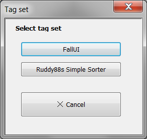 Choose your desired tag set. Tags are editable too.