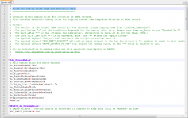 Edit custom INNR rules for automatic injection and heuristic tag rules