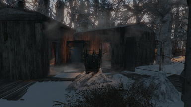 Entrance to the homes of the the two underbosses