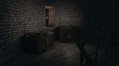 Armour storage, in the tower