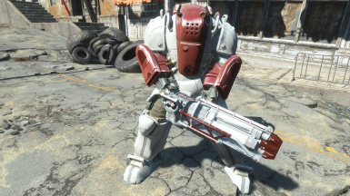Power Armored Synth with Institute Gatling Laser (Institute Power Armor, Institute Heavy Weapons)
