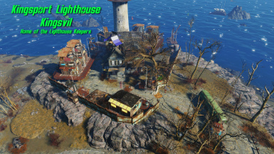 Sim Settlements 2 City Plan Contest Entry Kingsport Lighthouse - KingsVil. April 2021