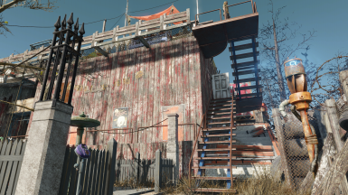 Waterside - Apartment Block showing secondary stairs for settler pathing