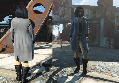 Zoe Outfit with Gray Coat