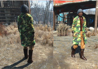 Mal outfit with Camo coat.