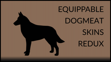 Equippable Dogmeat Skins Redux