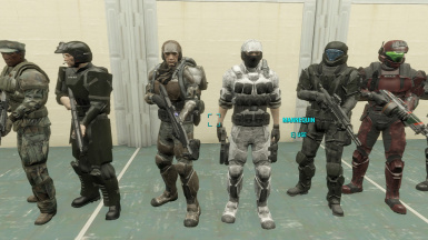 Marine outfits.