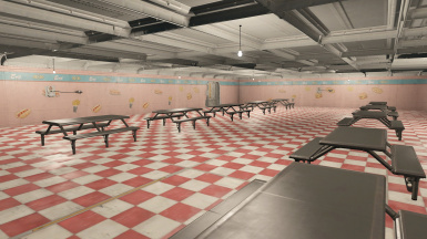 The cafeteria.