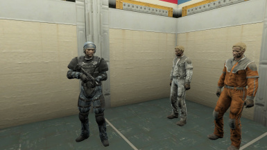 Don't ask me why a helmet wasn't included in the MP outfit. >:(