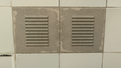 Bathroom wall vent