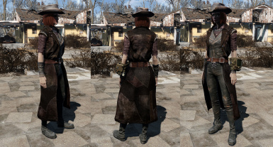Patched Leather Long Coat by jacknifelee