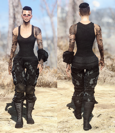 Sleeveless outfit urban camo