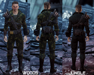 Woods and jungle camos