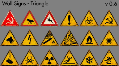 Wall Signs - Triangle - v0-6
