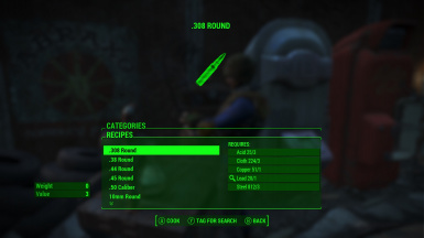 Fallout4 craftable ammo no perk restrictions 1