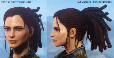 Ponytail Hairstyles by Azar v2.5a at Fallout 4 Nexus - Mods and ...