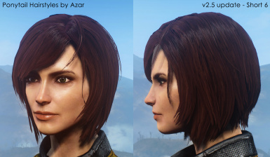 Ponytail Hairstyles By Azar V2 5a At Fallout 4 Nexus