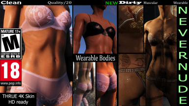 (Enhanced Nevernude) and Wearable underwears -Vanilla-EVB-CBBE