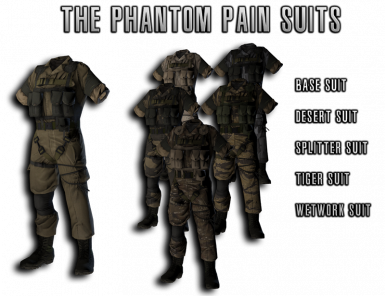 The Phantom Pain Suits variations